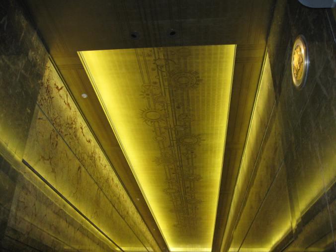 Empire State interior ceiling Sept. 2012