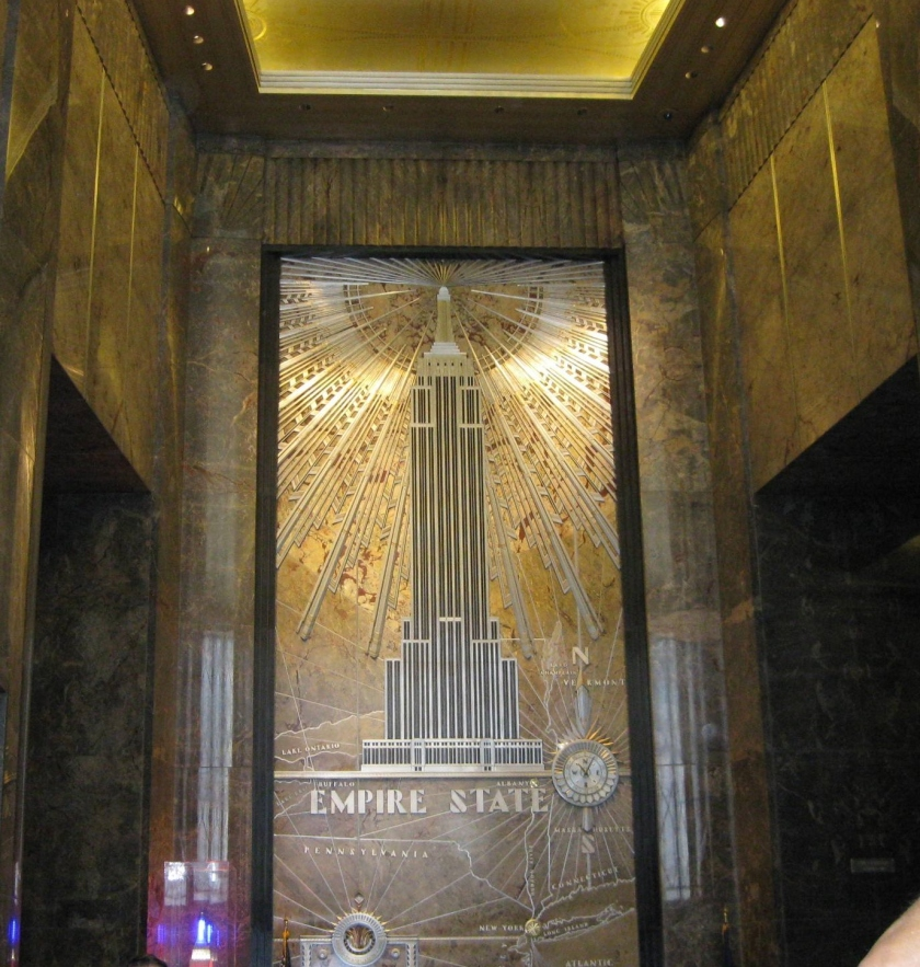 Empire State Bldg lobby Sept. 2012