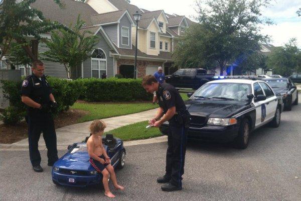 Kid gets speeding ticket