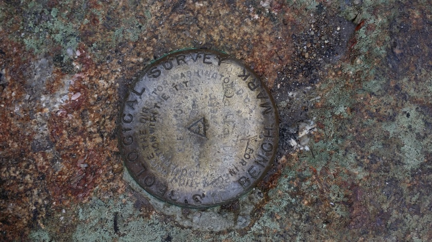 Mt. Pierce geological survey marker